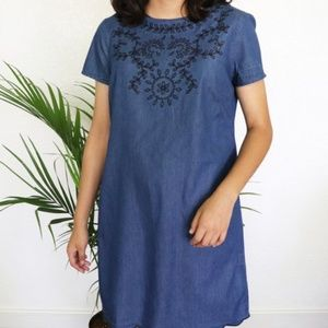 Old Navy Denim Scalloped Dress, sz XL